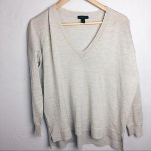 J. Crew merino wool boyfriend v neck sweater